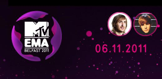 Sledujte on-line přenos vyhlášení cen MTV EMAs 2011