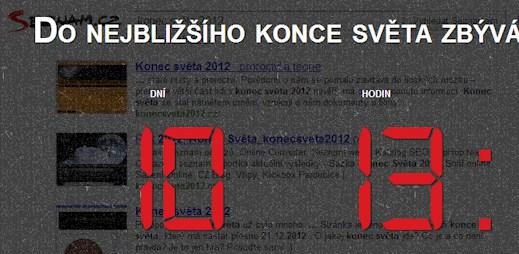 Konec světa 21. 12. 2012, aneb vtípek očima Seznamu.cz