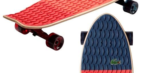 """Lacoste odhalil design """"skejtu"""" a oblečení pro správné skateboardisty"""