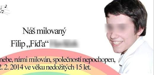 Toto je strašné: Synovec Ester Janečkové spáchal sebevraždu, protože byl gay! Bylo mu teprve 14 let