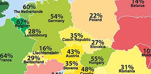 Tato mapa ukazuje, kde se žije evropským gayům nejlépe