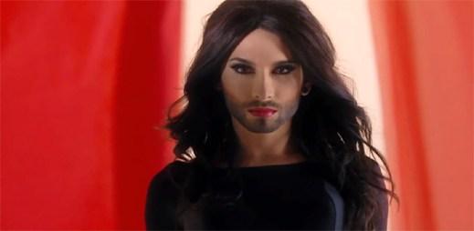 Vousatý transexuál Conchita Wurst zvítězil v hudební soutěži Eurovize 2014