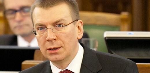 Ministr zahraničí Lotyšska se přiznal k homosexualitě