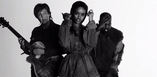 Rihanna: první klip FourFiveSeconds z nového alba je tady