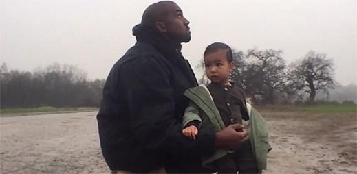 Kanye West v klipu Only One představil svou jedinou