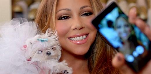 Mariah Carey se hýčká s roztomilým štěňátkem v klipu Infinity