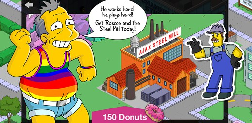 Ve hře The Simpsons Tapped Out bude zatraceně teplo! Rozzářila se v ní duha na podporu gayů