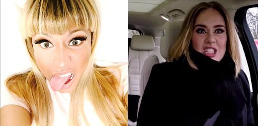 Adele předvedla strhující rap songu Monster od Nicki Minaj