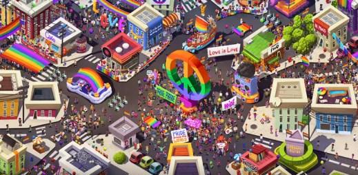 Gay hra Pridefest pro mobily: Proměňte virtuální město v LGBT říši