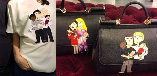 Dolce & Gabbana mění názor na homosexuální rodinu. Na svých produktech ji začali podporovat