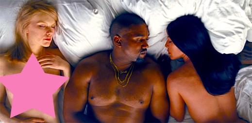 Kanye West vydal kontroverzní klip Famous s nahou Taylor Swift a dalšími celebritami