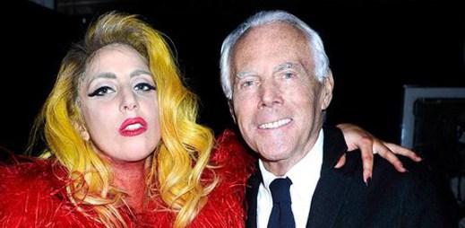 Lady Gaga se setkala s Giorgio Armanim