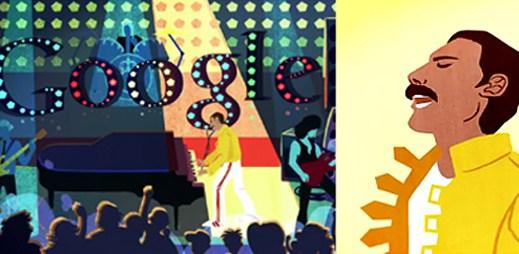 Do dnešního Google Doodle se dostal Freddie Mercury