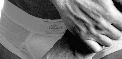 Spodní prádlo na sportovní postavě Davida Beckhama