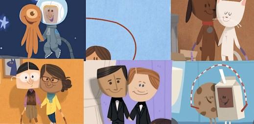 Valentýnské přání od Googlu pro gaye