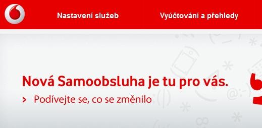 Vodafone má novou internetovou samoobsluhu