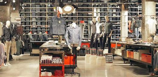 3 patra luxusu: Fotografie nové prodejny Levi's v srdci Paříže