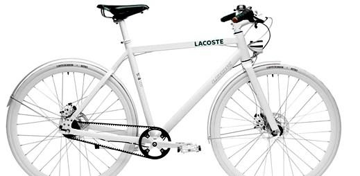 Luxusní jízdní kolo Lacoste Lab Bike v bílé barvě za 60 tisíc korun