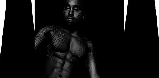 Kanye West se ukázal úplně nahý jako domorodec v Black Skinhead