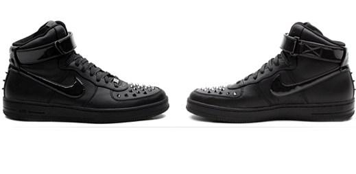 Nike představil stylové boty Air Force 1 Downtown Hi Spike Black s kovovými hroty