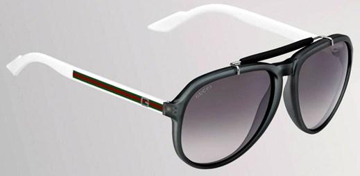 Vybavte se stylovými slunečními brýlemi Gucci, které mají rám z bioplastu