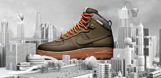 Vychutnejte si zbrusu nové zimní boty Nike Air Force 1 Duckboot