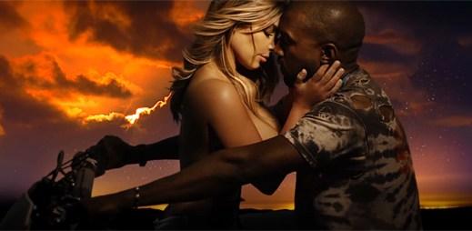 Kanye West v klipu Bound 2 projevil Kim Kardashian vášnivou lásku