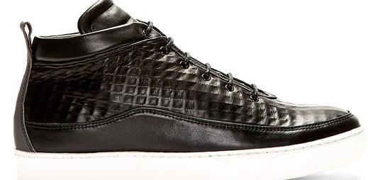 Public School: Prémiové boty s texturou kůže