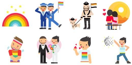 Gay samolepky: Facebook podpořil gaye a letní LGBT Pridy