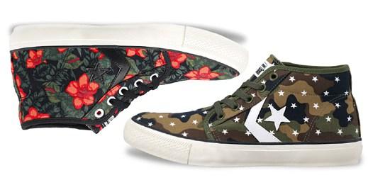 Kultovní boty Converse zdobí květinový potisk