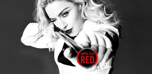 Apple: Madonna podpořila projekt Apps For RED, který bojuje proti AIDS