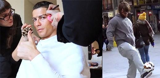 Cristiano Ronaldo napálil stovky lidí. Převlékl se za bezdomovce a šel si kopat s míčem