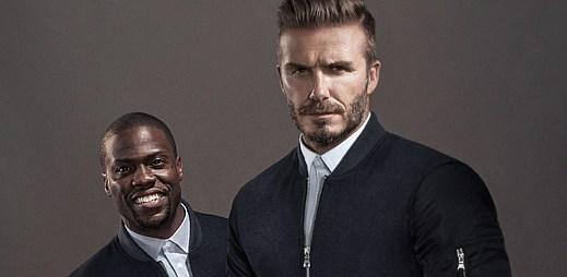 Legrační spojení. David Beckham a komik Kevin Hart se společně ocitli v podzimní kampani H&M