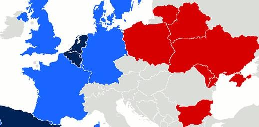 Mapa homosexuálních sňatků: Západní Evropa je ke gayům mnohem vstřícnější než východní státy