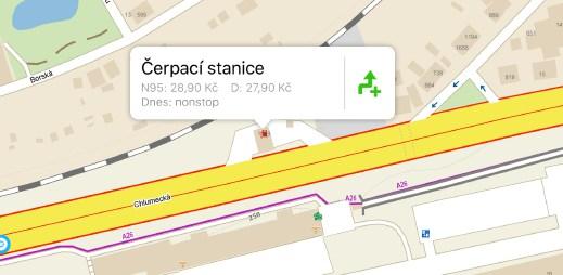 Jezdíte na výlety autem? Mapy.cz ukazují ceny pohonných hmot na čerpacích stanicích