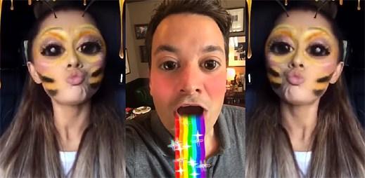 Ariana Grande se stává roztomilou včelkou a Jimmy Fallon zvrací duhu v zábavném klipu Into You