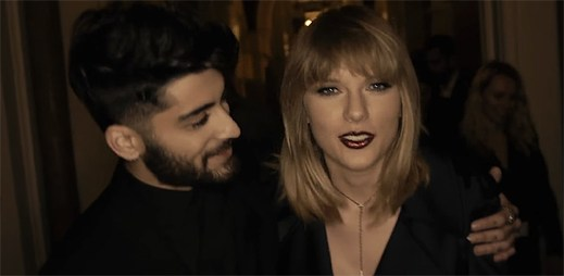 """Zayn a Taylor Swift nemohou udržet svůj slavný vztah v klipu """"I Don't Wanna Live Forever"""""""