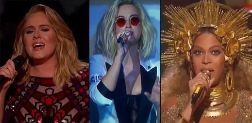 13 vystoupení z předávání hudebních cen Grammy 2017. Adele dokonce zničila své ocenění kvůli Beyoncé!