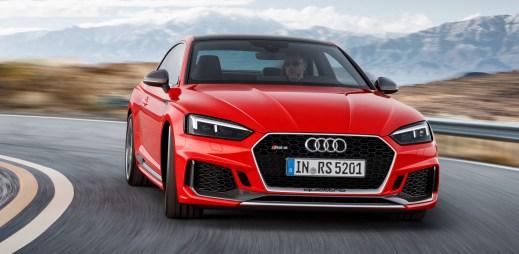 Čtyři lákavé fotografe nové sportovní Audi RS 5 Coupé s koženým interiérem