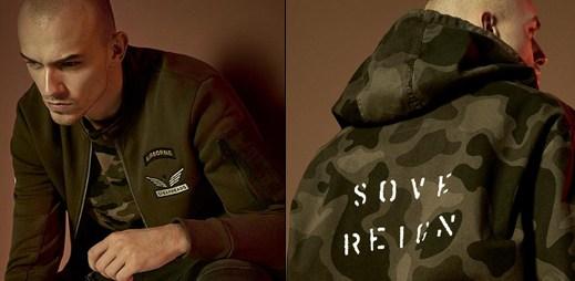 """7 fotek armádního stylu kolekce """"New Camo"""" módní značky Reserved"""