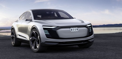 Nadupané Audi e-tron Sportback bude už v roce 2019: kamery místo zrcátek, výkon 320 kW a dojezd 500 kilometrů