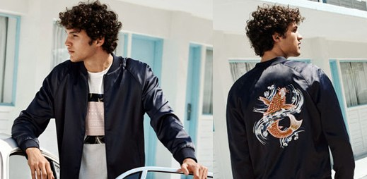 """5 fotek nové kolekce značky H&M s největším letním trendem vyšívanou bundou """"sukajan"""""""