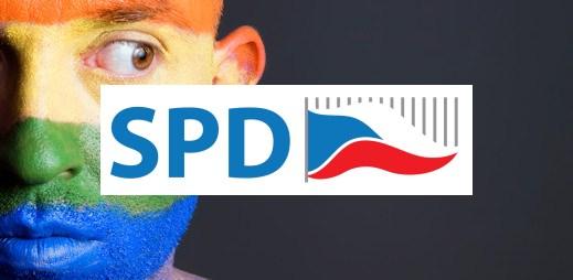 """Koho volit? SPD Tomia Okamury: """"Nesouhlasíme se sňatky gayů, protože manželé mohou být pouze muž a žena"""""""