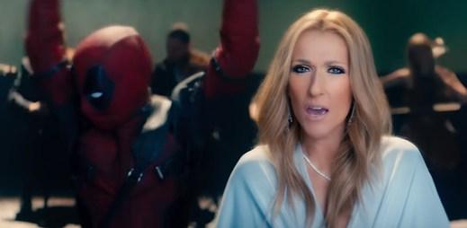 """Céline Dion a Deadpool na podpatcích předvádí skvělou show v klipu """"Ashes"""""""