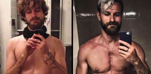 """Kluk z Instagramu: 35 sexy fotografií Honzy. """"Před 4 roky jsem si řekl, že přestanu být vyhublej týpek,"""" vzpomíná"""