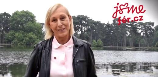 Úspěšná tenistka Martina Navrátilová podporuje manželství pro gaye a lesby