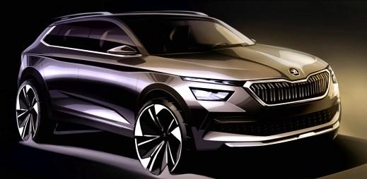 Automobilka odhalila první skici nového městského SUV Škoda Kamiq