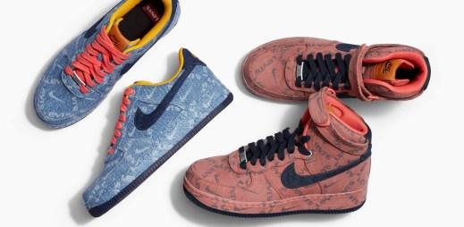 """Chcete džínové boty Nike? 11 fotografií speciální kolekce """"Nike By Levi's"""""""